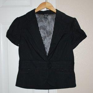 Maurice Short Sleeve Black Blazer Large